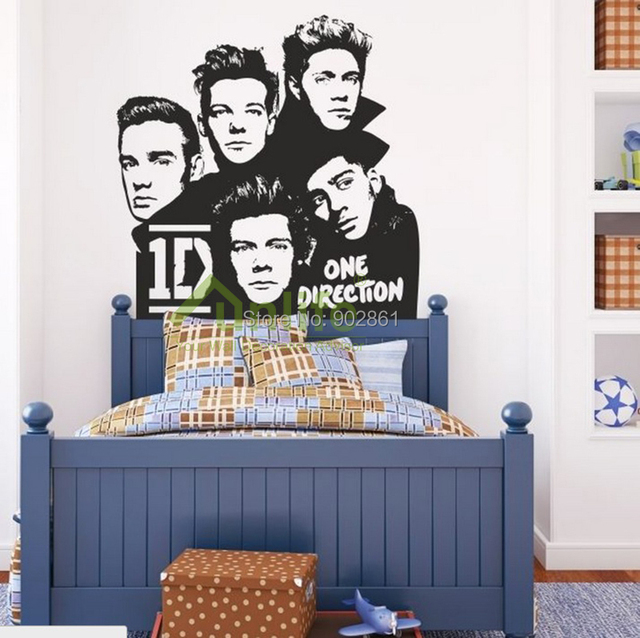 funlife one direction 1d wall stickers kids decorative funlife 10pcs 3d wall border sticker decorative wall