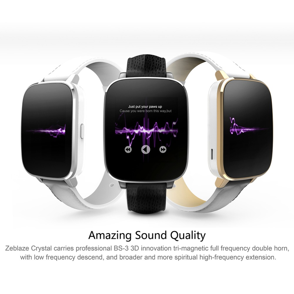 Zeblaze Crystal Curved 1.54inch IPS 3D HD screen Smart Watch MTK2502 HRM Real Heart rate Bluetooth 4.0 Genuine Leather Strap(China (Mainland))