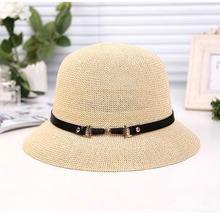 Sterbakov el verano sol navegante Sombrero panamá con ala ancha estilo para las mujeres, paja, sombreros de paja y protección UV(China)
