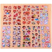 10 Листов Мультфильм Животных Фокс Кошки Розовый DIY Наклейки Мультфильм Пузырь Наклейки Игрушки