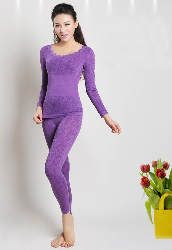 2015D Woman thermal underwear ms blasting with modal qiu dong women's warm shirtwaist suit seamless beautifying build wholesale(China (Mainland))