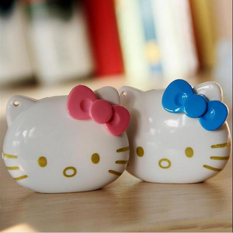 Free Shipping Mini Fashion Cartoon Hello Kitty Cat LOGO MP3 TF Player With MicroTF/SD Card Slot(China (Mainland))