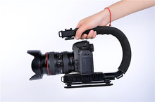 New DSLR Camera Action Grip Stabilizing Handle Black C-shaped bracket Stabilizer  for DSLR Cameras and Camcorders WSA-641A