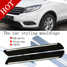 Car Anti-collision Strip Bumper Protector Car Crash Bar Anti-rub Bar Retail Bumper Crash Styling Mouldings rubber bumper strip(China (Mainland))