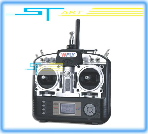 Promotion! WFLY WFT08 2.4GHz 8CH RC R/C system 8 channel Transmitter with 9CH receiver for airplane helicopter car boat Rc gift