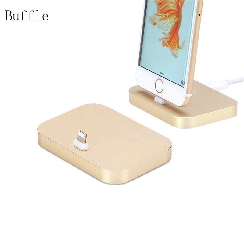 USB Charging Dock for Apple iPhone 5s 5 6 7 plus Aluminum for Lighting Sync Data Cable Station Charger Cradle Desktop Dock Black(China (Mainland))