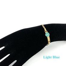 16cm Cute Girls Bracelets Baby Jewelry Gift Heart Bracelet Gold Chain Bracelets & Bangles Enfants Pulsera Bebe Bracelete B0929(China)