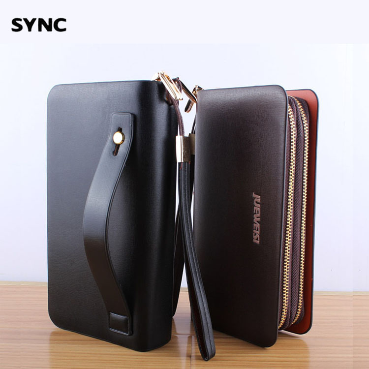 SYNC men PU cluthc wallet  long besiness solid purse design brand zipper fashion hign quality bag 2016 new style<br><br>Aliexpress