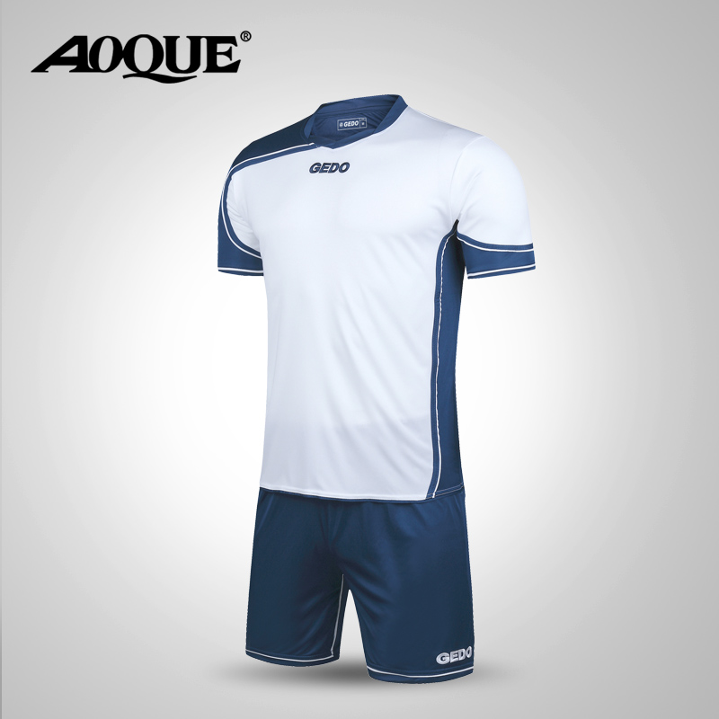 2016 New Men Soccer Jersey Football Clothing Paintless Summer Sportswear Set Male Breathable Soccer Football Jersey KIT005(China (Mainland))
