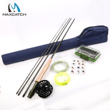 Maxcatch 9FT 8WT Fly Rod & Fly Reel Combo  Fly Fishing Rod Line Backing Tapered Loop Flies Box Fishing Outfit