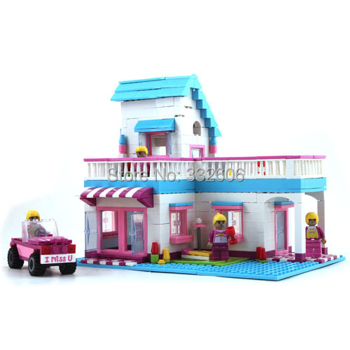 Ausini Building Blocks Toy Sweet House Villa Princess Construction Educational Bricks Toys Girls Model Kits - C&T store