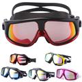 Comfortable Silicone Large Frame Swim Glasses Swimming Goggles Anti Fog UV Men Women Swim Mask Waterproof