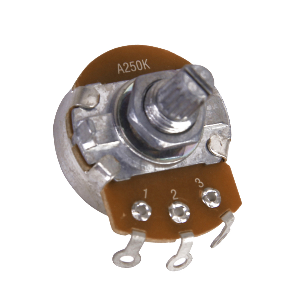 250K-ohm Control Pot Guitar Potentiometer Split Shaft Guitar Volume for Replacement/upgrading Volume and Tone Controls