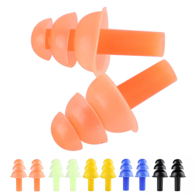 Гаджет  5 pairs noise reduction silicone earplugs ear protector reusable hearing protection earmuffs sleeping soundproof None Безопасность и защита