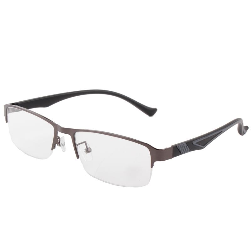 Large Frame Wide Temple Eyeglass Alloy Men Black Eyewear Optical Spectacle Frames(China (Mainland))