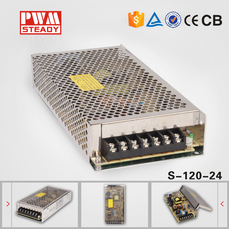 24 Volt DC Regulated Power Supply S-120-24 5A 120W(China (Mainland))