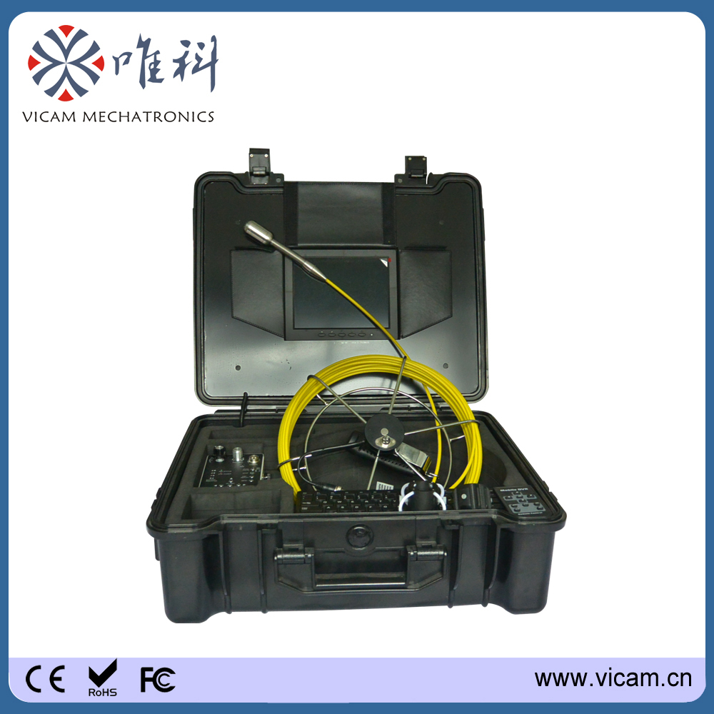 Dia.29mm self-levelling image underwater inspection camera video camera with 30m fiberglass cable(China (Mainland))