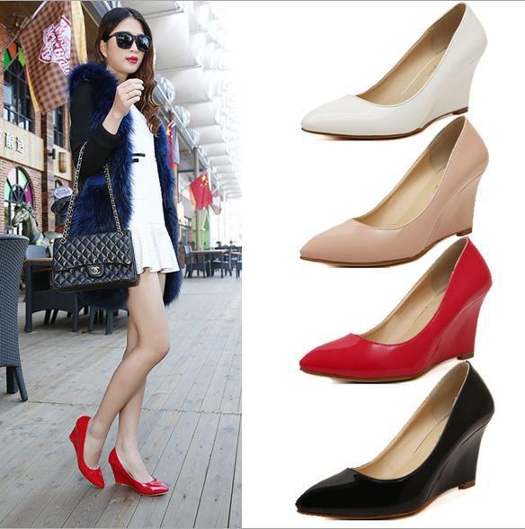 Free shipping 2015 new fashion high heels shoes women pumps women shoes 4 colors size 35-39 sapatos de salto alto<br><br>Aliexpress