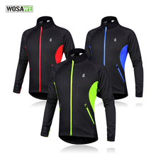Buy WOSAWE Men Fleece Thermal Winter Wind Cycling Jacket Windproof Bike Bicycle Coat Clothing Long Sleeve Cycling Jerseys for $25.31 in AliExpress store