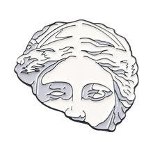 Arte avatar scultura smalto spilla uomini e delle donne del collare del collare cappello distintivo di pin ago fumetto gli amanti di arte dei monili regali(China)
