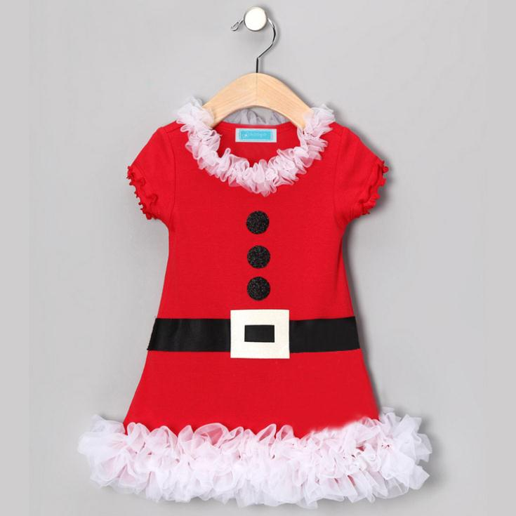Year dress christmas girls dress good quality girls festival clothing