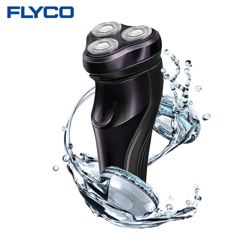FLyco Professional Body Washable Electric Shaver for Men lasting 45 Minutes Rechargeable Electric razor 3D Floating HeadS FS372(China (Mainland))