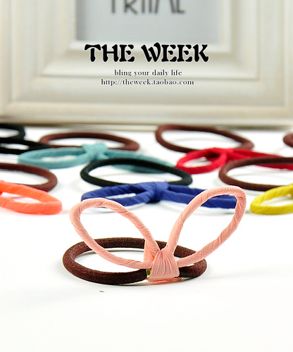 Sweet steel wire rabbit ears multicolour candy color headband tousheng rubber band hair accessory - mammoth jewelry store