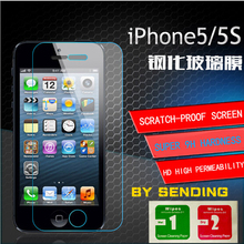 For iPhone 5 tempered glass screen protector rounded edge 2.5D high quality screen protector
