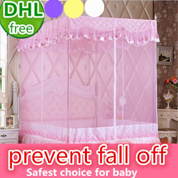 Folded Portable Mosquito Net Canopy For King Size Bed