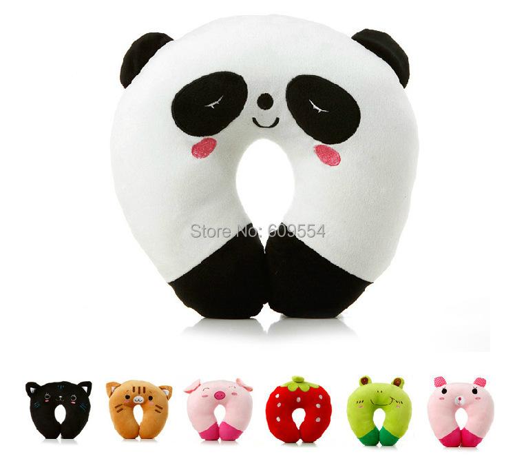 Baby Toys Cartoon U Shaped Neck Relax Pillow PP Cotton New Home & Garden Bedding Pillows JQ051(China (Mainland))