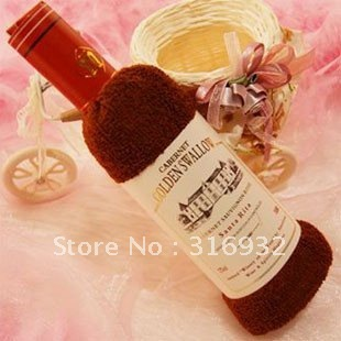 C5 Hot sale! Creative Cake Wine bottles Towels ,100% cotton