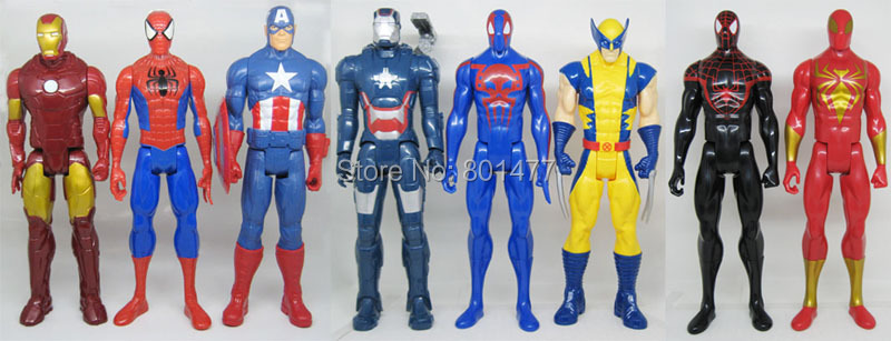 Marvel Iron man Ultimate Spider-man Avengers Captain America Wolverine Titan Super Hero Series Action Figure PVC 29cm - Dayofan store