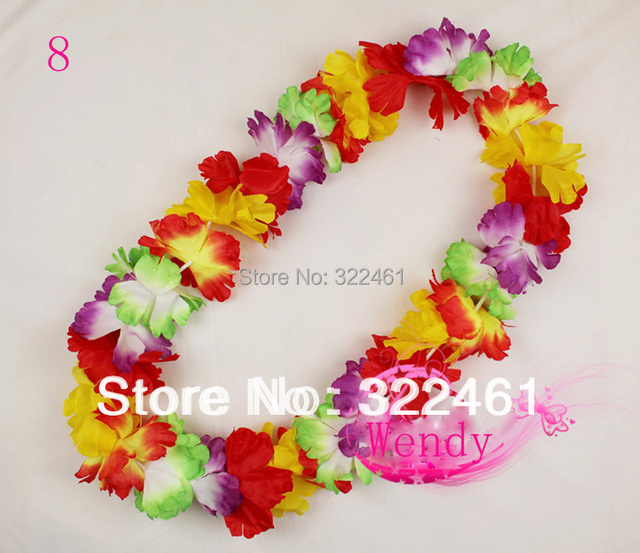 30pcs/lot new 2016 party supplies hawaiian flower lei garland hawaii necklace  ~~free shipping