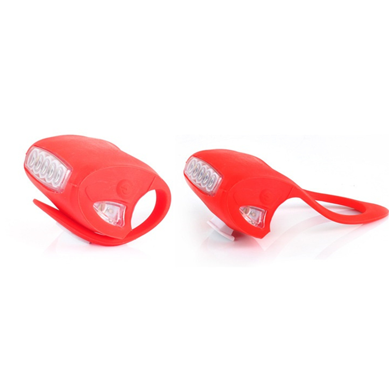 HOT! 5+2 LED Bike Bicycle Cycling Front Rear Tail Flash Lights Safety Warning Lamp Cycling Safety Caution Light Flash Light RED(China (Mainland))