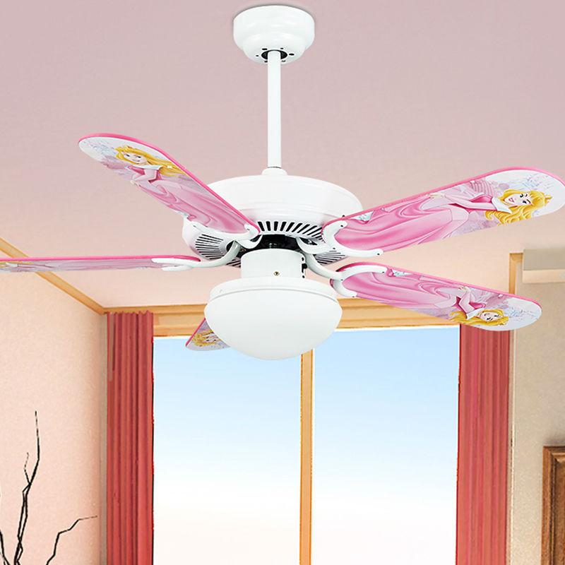 Children cute cute style fan lights ceiling fan light boys ...