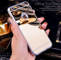 EMIUP Rose gold Luxury Mirror Flash Fashion Case Coque For iPhone 7 6 6S Plus Soft