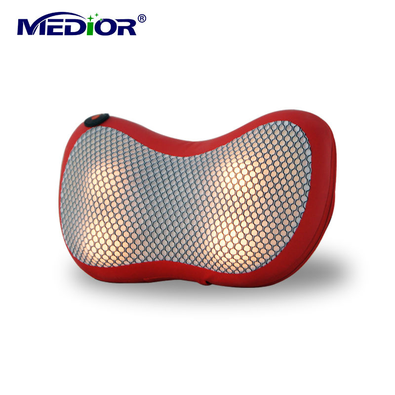 Home Car Dual -use Multifunction Neck Pillow Massager Electric Shiatsu Massage Electronic Massageador Infrared Emagrecedor 80160(China (Mainland))