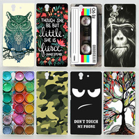 Case For Sony Xperia Z L36H L36 L36i C6603 C6602 LT36 Colorful Printing Drawing Plastic Hard Cover for Sony Xperia Z