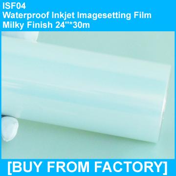 "Waterproof Inkjet Printing Film Milky Finish 24""*30m"
