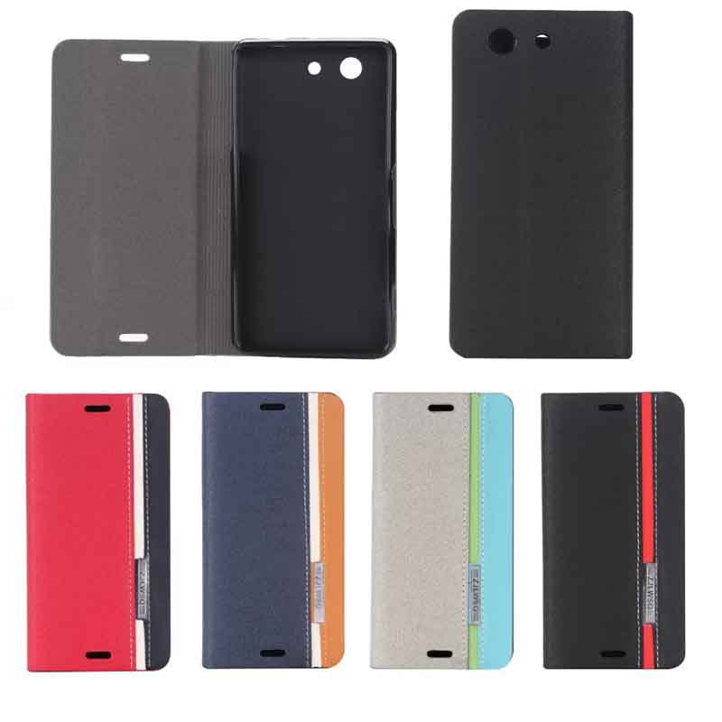 Sony Xperia Z3 Compact Mini M55W Hybird 3 Colors Straps PU Leather Business Card Slots Stand Flip Phone Case Cover - Bella Digital Accessories store