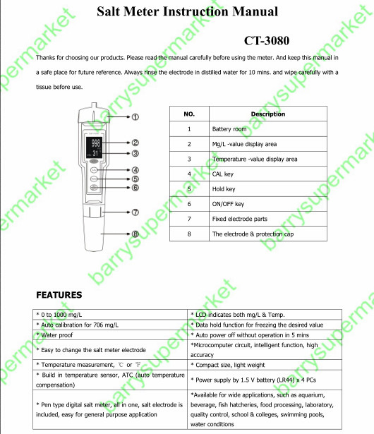 ct 3080 digital pen type portable salinity meter salt meter salt rh sites google com
