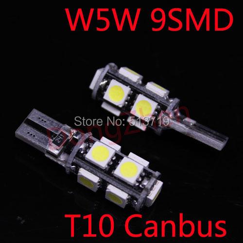 1X Auto Canbus T10 W5W 9 LED Turn Signal Indicator Wedge Dome Festoon Light Car 5W5 No Error License Plate Light Mirror Xenon(China (Mainland))