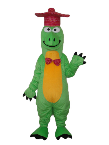 Hot selling!New funny green Gentleman Dinosaur Cartoon Fancy Dress Suit Outfit Animal Mascot Costume - Sam's World store