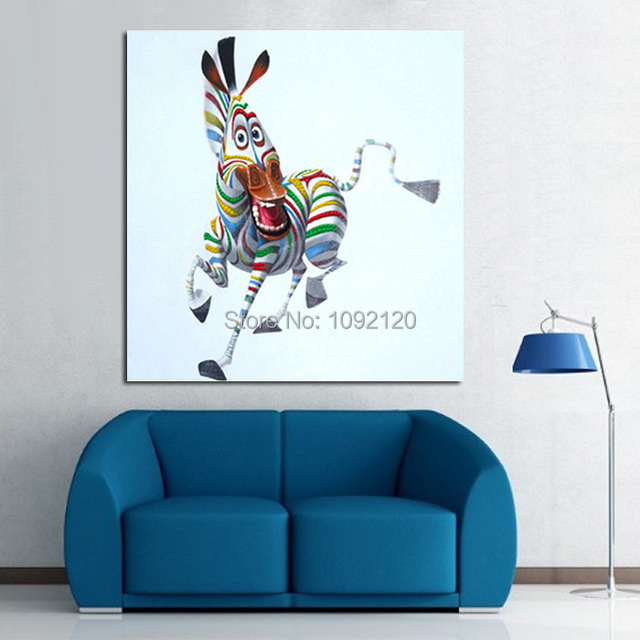 Hand painted happy little ass hot sell low price wall art Low cost wall decor