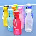550mL Portable Water Bottle Leak proof Unbreakable Frosted Plastic Cup BPA Free Water Bottle for Travel