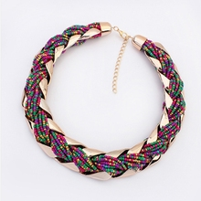 wholesale choker vintage jewerly bead Necklaces & Pendants fashion colar exaggerated statement necklace for women 2015(China (Mainland))