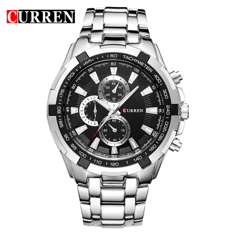 relogio masculino Luxury CURREN Brand Men Wristwatch Stainless Steel Analog Display Sports Watches Men's Waterproof Quartz Watch - Wemwatch Store store