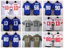 100% Stitiched,New York Giants,Eli Manning,Odell Beckham Jr,eli apple,Victor Cruz,Lawrence Taylor,Phil Simms,customizable.mens(China (Mainland))