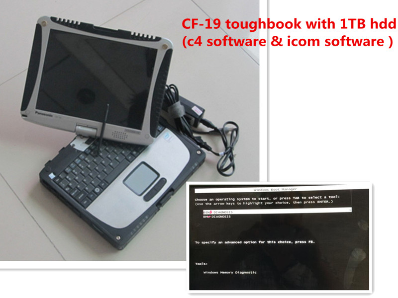 Multi language top mb star c4 sd connect program & for bmw icom software v2016.05 hdd 1tb with cf19 laptop rugged(China (Mainland))