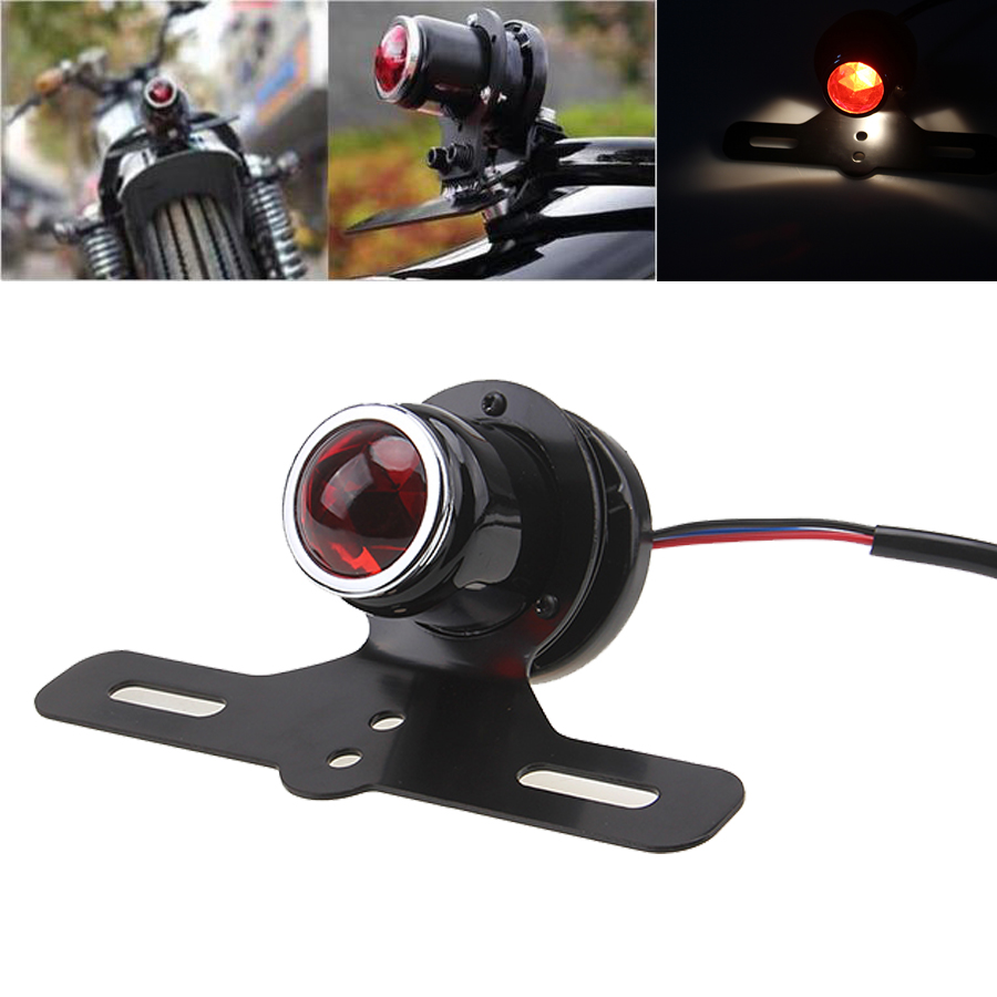FREE SHIPPING MOTORCYCLE TAIL LIGHT OLD SCHOOL SHOTGUN STYLE FOR HARLEY BOBBER CHOPPER Suzuki Honda Cafe Racer Motocicleta(China (Mainland))